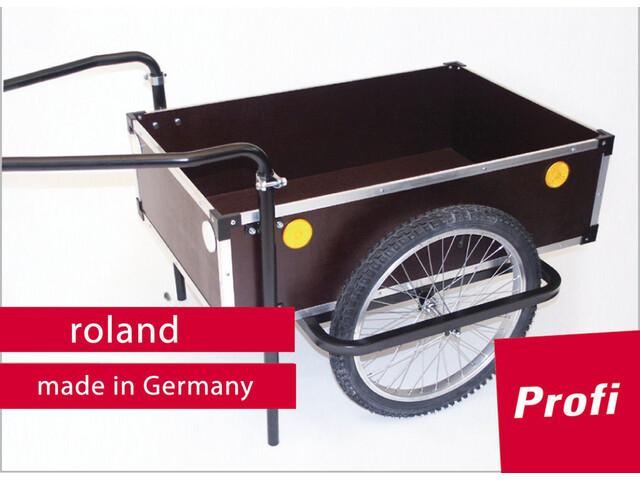 Roland Profi Fietstrailer 20'' Dubbele Trekstang, holz/metall